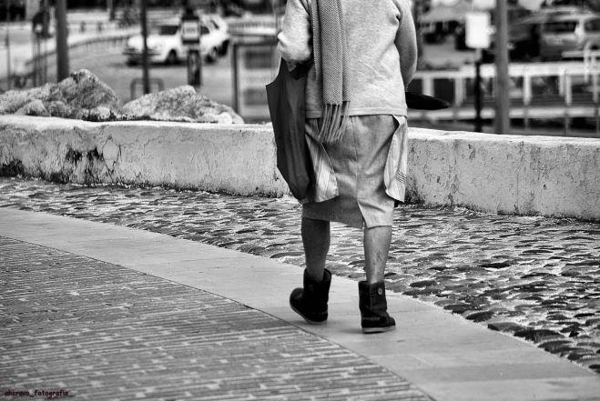 caminhar rente ao chão