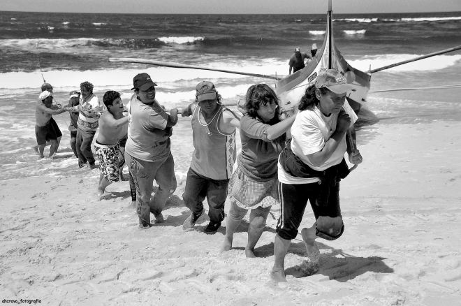 xávega: o arribar da mão de barca