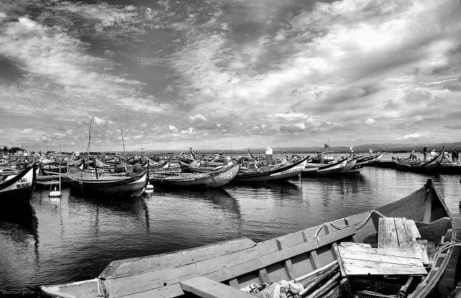 marina dos pescadores, torreira, maré cheia