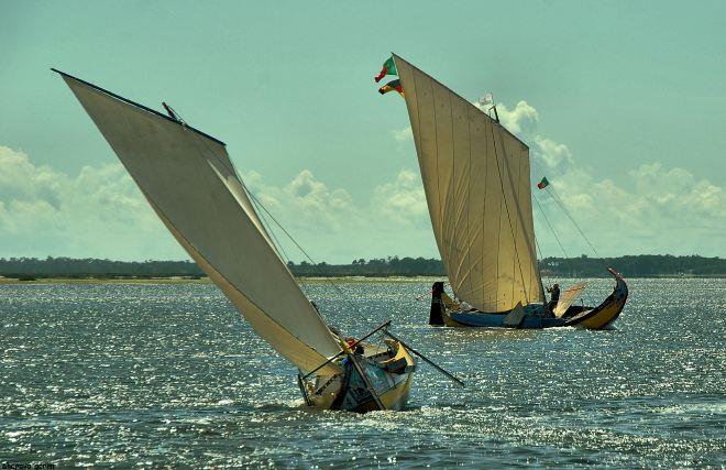 quando o vento é pouco, há que fazer bordos