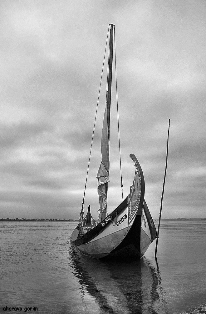 enrolada a vela no mastro, o zé rito espera