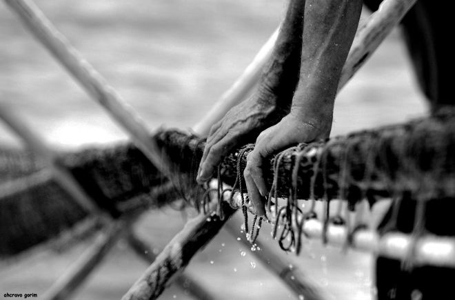 mãos de mar